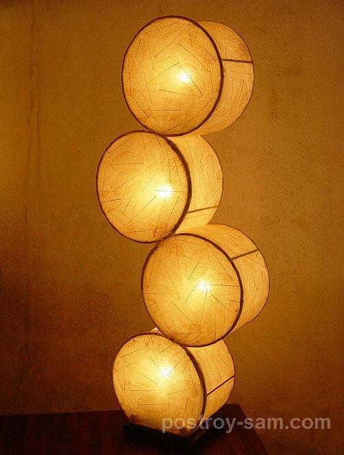 Светильник из цилиндров