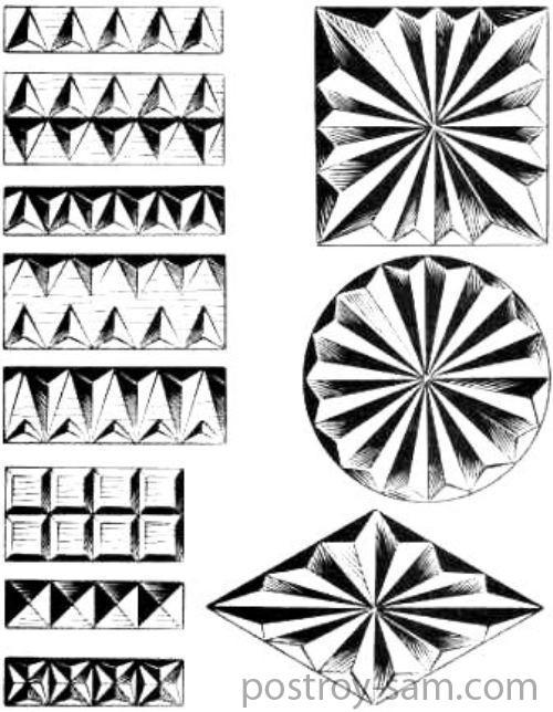 Узоры для геометрической резьбы