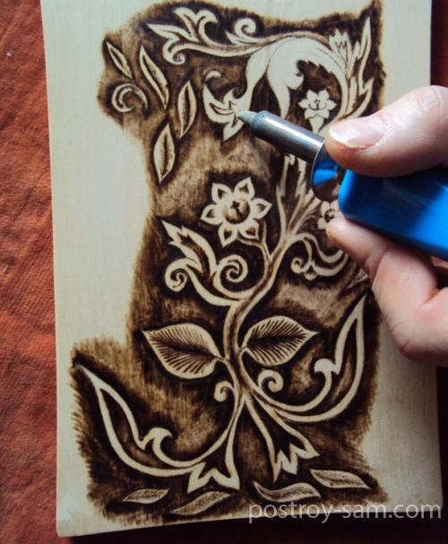 Выжигание рисунка на дереве