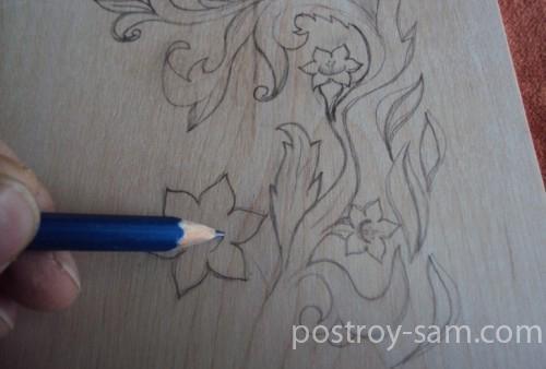 Нанесение рисунка карандашом