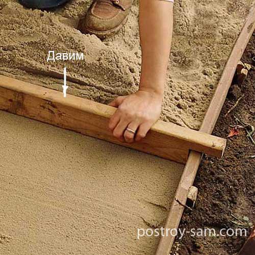 Слой песка
