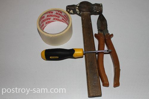 Инструменты для крепления душа
