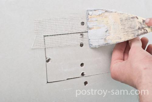 Наложение армирующей сетки