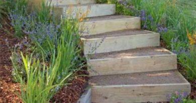 Как сделать ландшафтную лестницу?