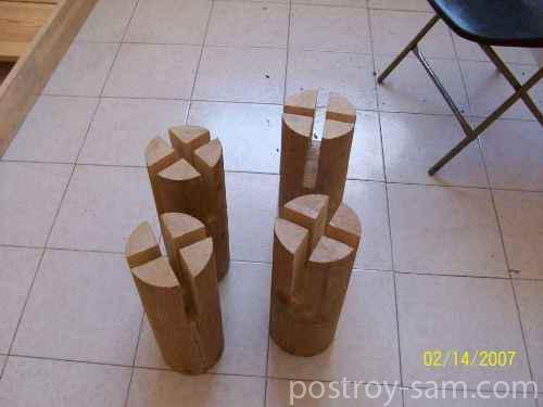Ножки для кровати из бревна