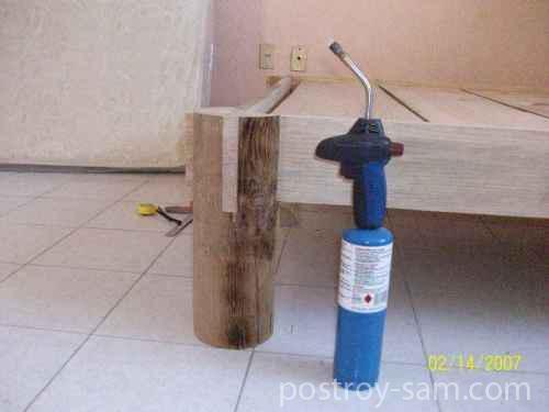 Декор деревянной кровати