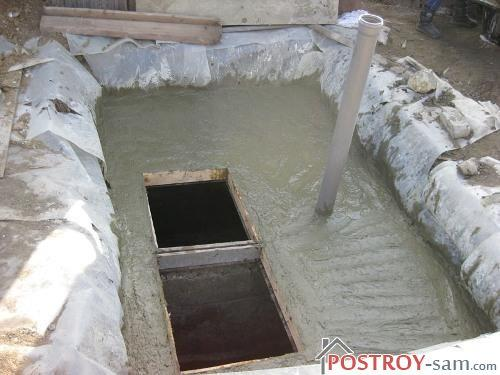 Монолитный бетонный септик без откачки
