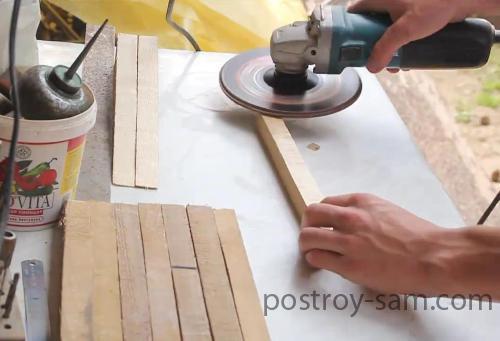 Шлифовка брусков