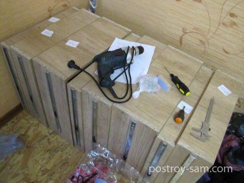 Полозья для боковых стенок шкафа