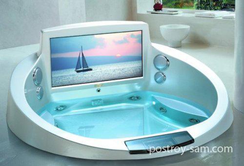 Какие есть телевизоры для ванной комнаты?