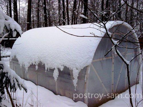Уход за теплицей «Синьор-Помидор» в зимний период