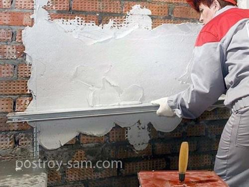 Технология штукатурки стен при помощи сухой гипсовой смеси