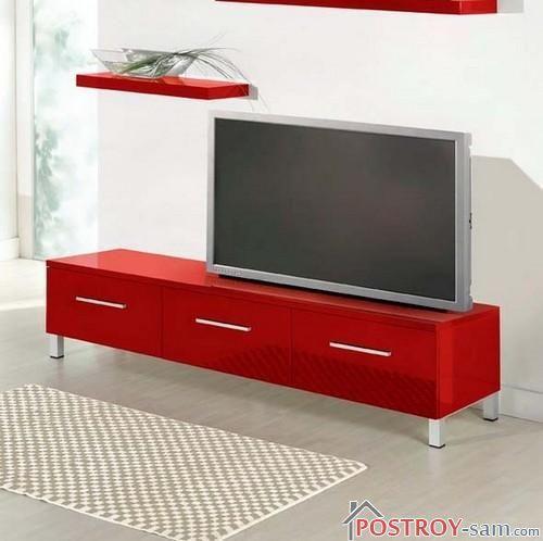 Красная тумба под телевизор