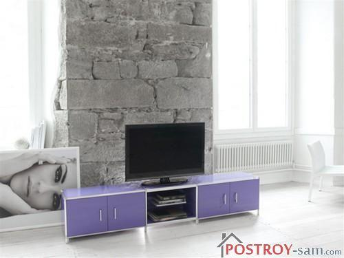 Фиолетовая тумба под телевизор