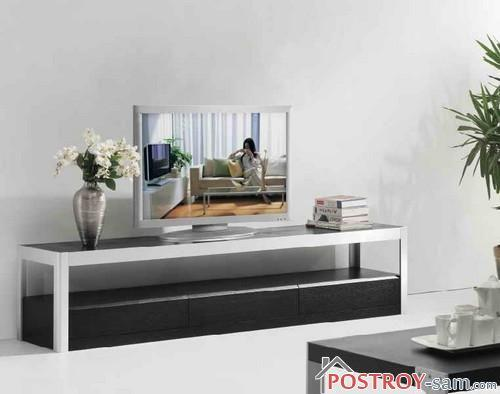 Тумбы под телевизор — мебель для удобства. Фото