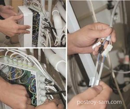 Соединение кабелей и проводов
