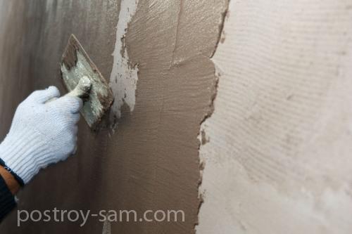 Штукатурка утепленной стены