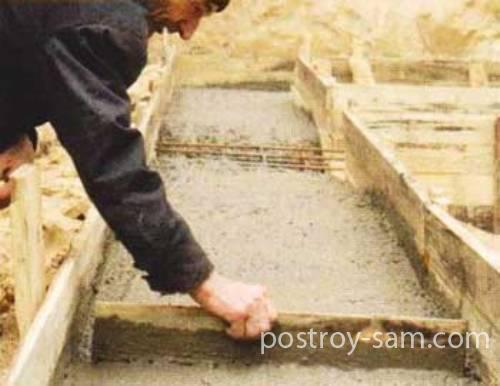 Выравнивания поверхности залитой ленты