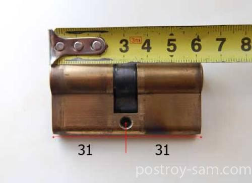 Размеры цилиндрового механизма