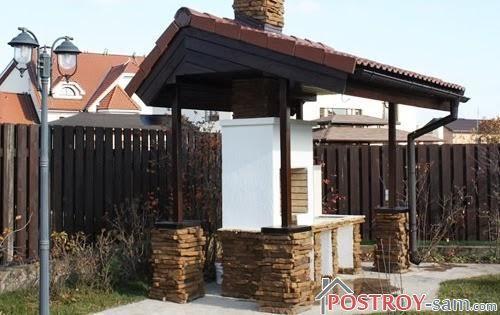 Беседки с мангалом и барбекю. Фото. Как обустроить место для отдыха на даче?