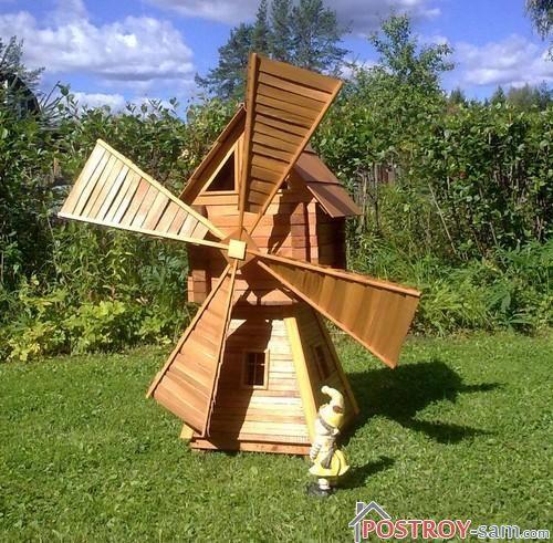 Сооружение мельницы для сада