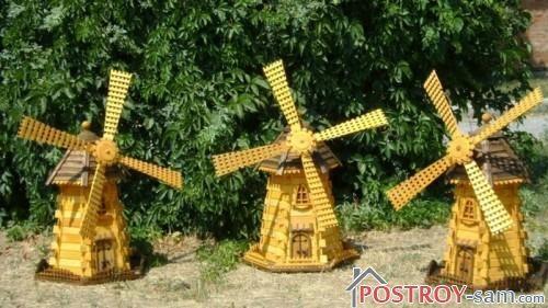 Использование декоративной мельницы