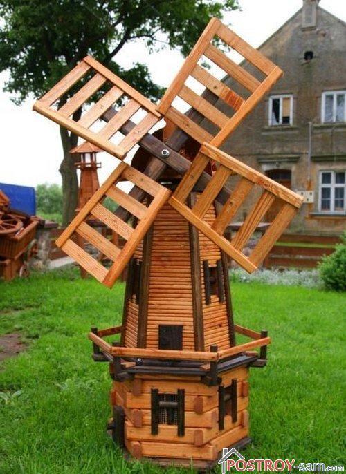 Макеты мельниц из дерева