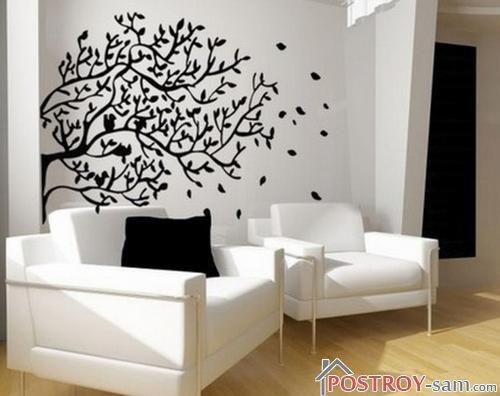 Трафареты деревьев для декора стен