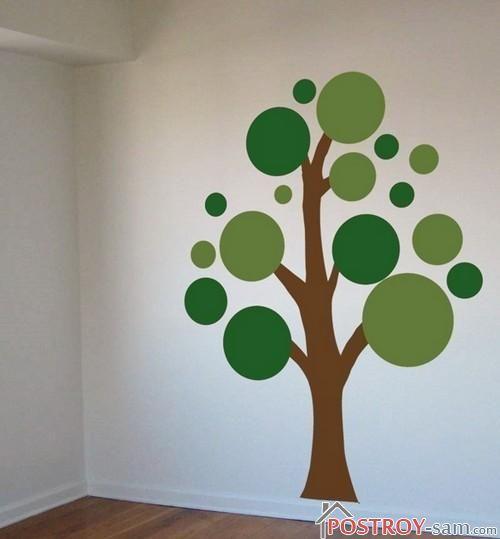 Дерево на стене своими руками фото