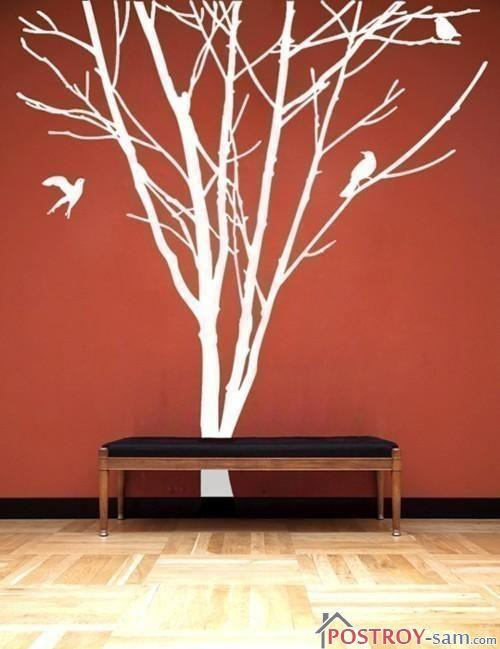 Создаем дерево на стене своими руками