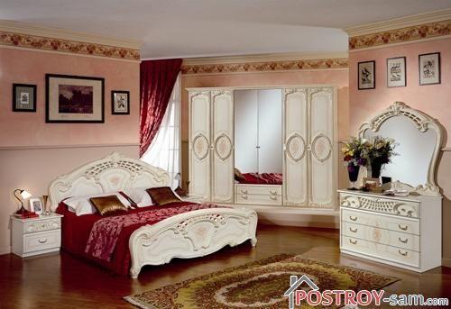 Насыщенный интерьер спальни