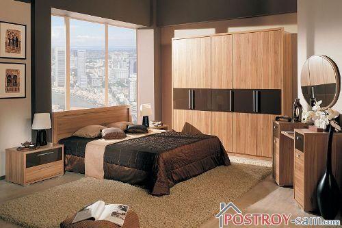 Строгий дизайн спальни