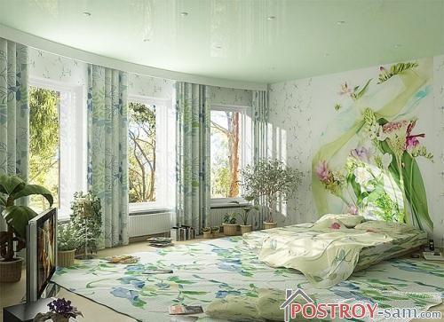 Красивая весенняя спальня