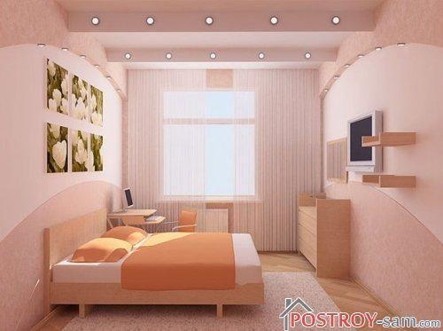 Красивая простая спальня