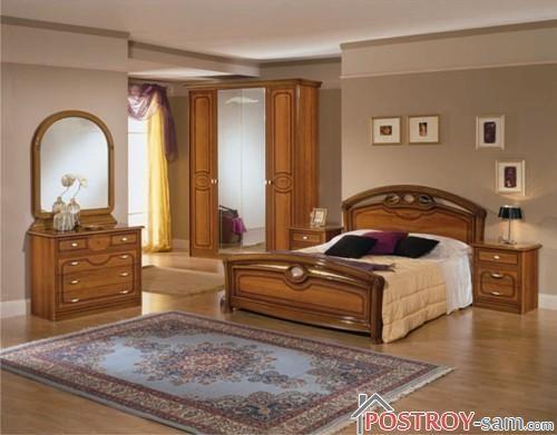 Спальня с ковром