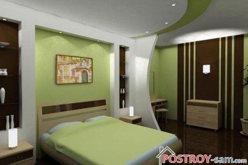 Потолок красивой спальни фото