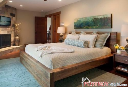 Массивная кровать фото
