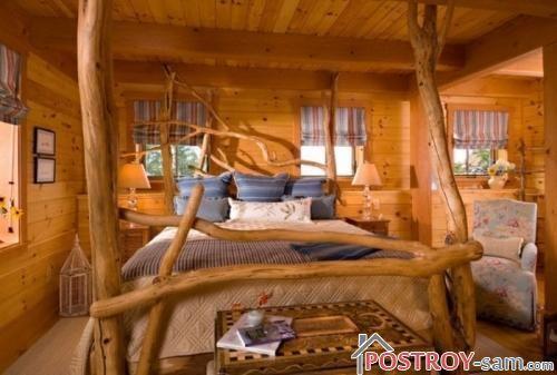 Оригинальная деревянная кровать из массива
