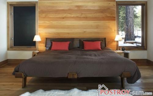 Дизайнерская кровать из массива фото
