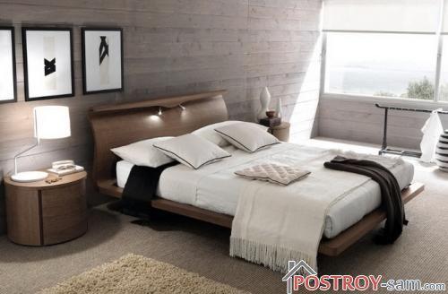 Молодежная кровать из дерева