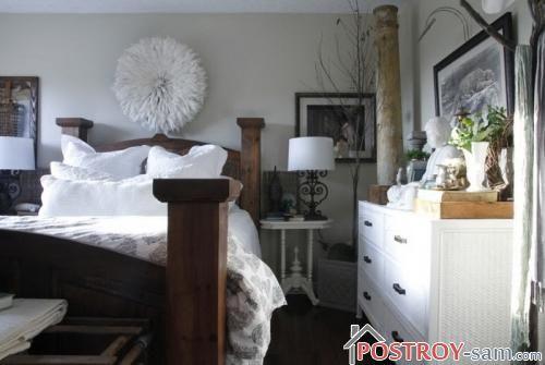 Массивная кровать для спальни