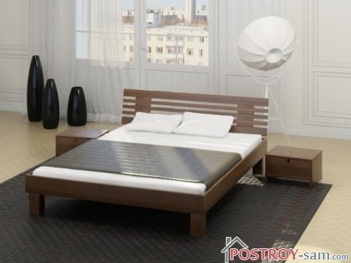 Современные двуспальные кровати из массива фото