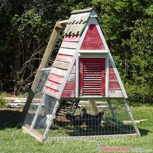 Треугольный домик для кур