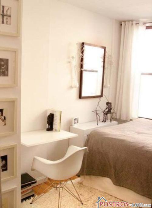 Туалетный столик в маленькой спальне