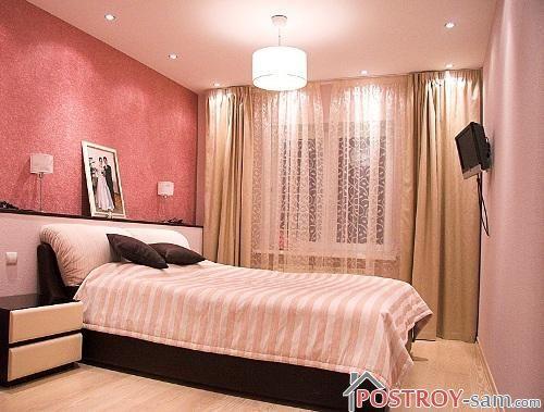Небольшая спальня с телевизором фото
