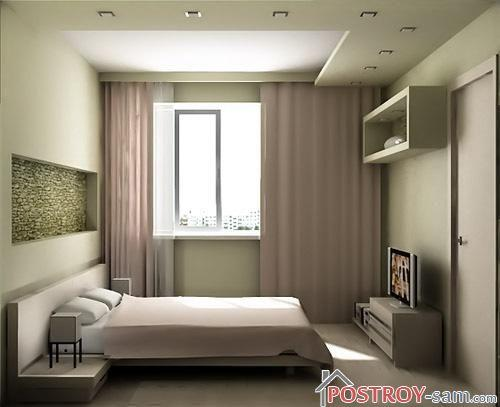 Меблирование маленькой спальни