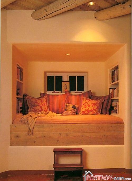 Необычная миниатюрная спальня