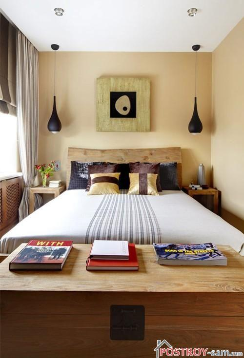 Узкая спальня фото