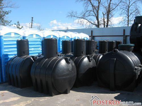 Пластиковый септик для дачи или загородного дома