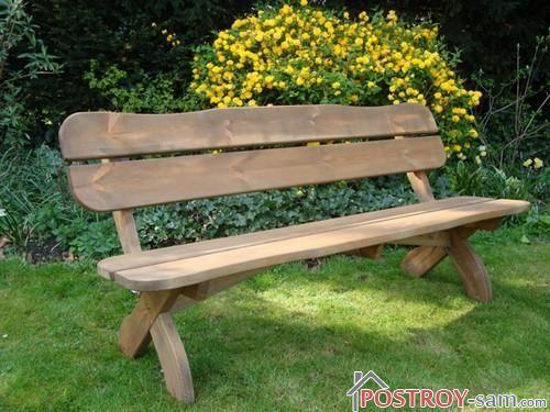 Дачная деревянная скамейка